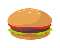 Hamburger Icon in Flat Royalty Free Stock Photo