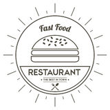 Hamburger icon. Menu and food design. Vector graphic Royalty Free Stock Images