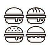 Hamburger icon set royalty free illustration