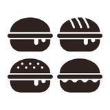 Burger icon set vector illustration