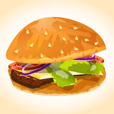 Hamburger icon vector Royalty Free Stock Photos
