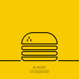 Hamburger icon on a yellow background Stock Image