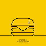 Hamburger icon on a yellow background Royalty Free Stock Photography