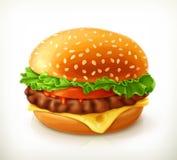 Hamburger, icona di vettore illustrazione di stock
