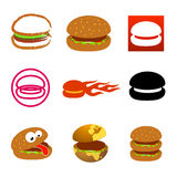 Hamburger icons and logos Royalty Free Stock Photography
