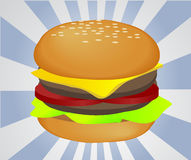 Hamburger illustration Stock Image
