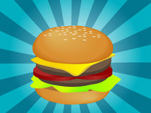 Hamburger illustration Royalty Free Stock Photography