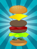 Hamburger illustration Royalty Free Stock Photo