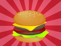 Hamburger illustration Stock Photography