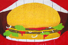 Hamburger illustration Royalty Free Stock Images