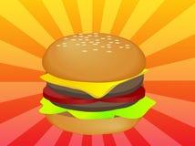 Hamburger illustration Stock Images