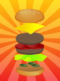 Hamburger illustration Stock Photos