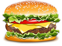 Hamburger illustration Stock Photography