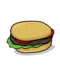 hamburger ilustracja Fotografia Stock