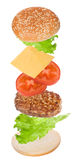 Hamburger ingredients Royalty Free Stock Images