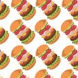 Hamburger Ingredients pattern Stock Photos