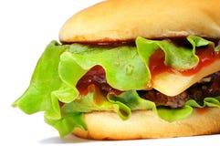 Hamburger isolado no branco Foto de Stock Royalty Free