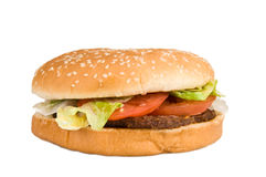 Hamburger Isolated Stock Image
