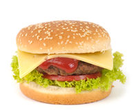 hamburger isolated Stock Image