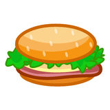 Hamburger isolated illustration Stock Photo