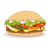 Hamburger isolated realistic Stock Photography