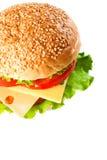 Hamburger isolated on white Royalty Free Stock Photography