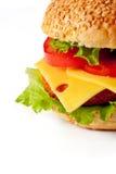 Hamburger isolated on white Stock Photography