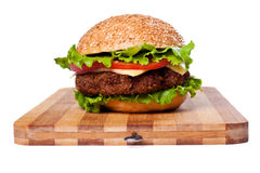 Hamburger isolated on white Stock Image