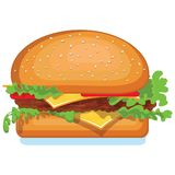 Hamburger isolated on white Stock Images