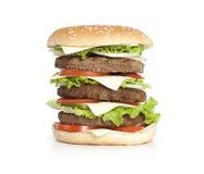 Hamburger isolated on white Stock Photos