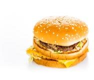 Hamburger isolated on white background Stock Images