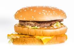 Hamburger isolated on white background Royalty Free Stock Photo