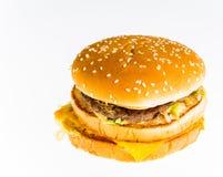 Hamburger isolated on white background Stock Photo