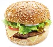 Hamburger isolated. Stock Photography