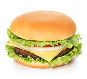 Hamburger isolated on white Royalty Free Stock Image