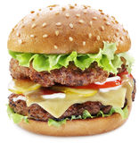 Hamburger isolated on a white background. Stock Photography