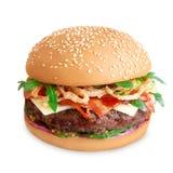 Hamburger isolated on white background Stock Image