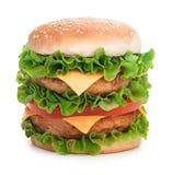 Hamburger isolated on white background Royalty Free Stock Photos