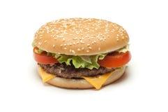 Hamburger isolato Fotografia Stock
