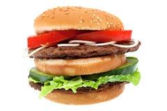 Hamburger isolato fotografia stock libera da diritti