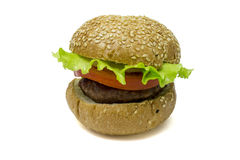 Hamburger isolato Immagini Stock Libere da Diritti