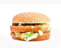 Hamburger isolato su fondo bianco Immagini Stock Libere da Diritti
