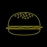 Hamburger jaune Photographie stock