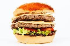 Hamburger kanapka z wołowiną i serem Fotografia Royalty Free