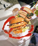 hamburger kanapki toast Obraz Royalty Free