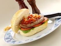 Hamburger With Ketchup Royalty Free Stock Photos