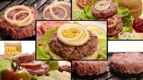 Hamburger, kolaż zdjęcie wideo