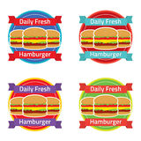 Hamburger Label Set Royalty Free Stock Images