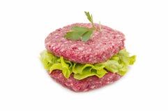Hamburger and lettuce Royalty Free Stock Photos
