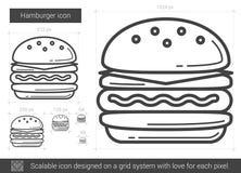 Hamburger line icon. Stock Photography